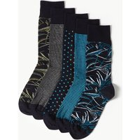M&S Collection 5 Pack Cool & Freshfeet Cotton Rich Socks
