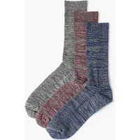M&S Collection 3 Pack Cool & Freshfeet Cotton Rich Socks