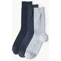 M&S Collection 3 Pack Cotton Rich Cool & Fresh Socks