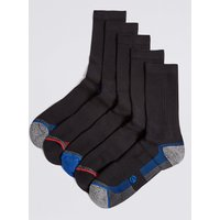 M&S Collection 5 Pack Cotton Rich Sports Socks