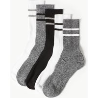 M&S Collection 5 Pack Cool & Fresh Cushioned Sports Socks