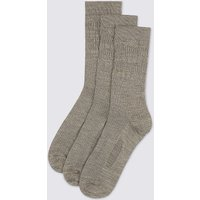 M&S Collection 3 Pack of Gentle Grip Lambswool Blend Socks