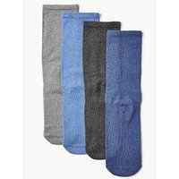 M&S Collection 4 Pack Cotton Blend Freshfeet Socks