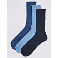 M&S Collection 3 Pairs Of Gentle Grip Chunky Socks