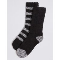M&S Collection 2 Pack Bed Socks