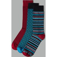 Autograph 3 Pack Assorted Socks with Cotton