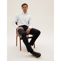 MandS Collection Pure Cotton Slim Fit Non Iron Twill Shirt