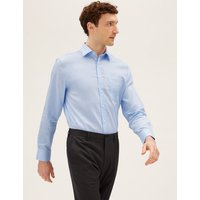 MandS Collection Regular Cotton Twill Non-Iron Shirt