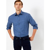 MandS Collection Cotton Twill Regular Fit Shirt