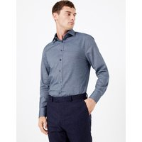 MandS Collection Cotton Twill Easy Iron Tailored Fit Shirt
