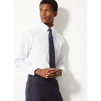MandS Collection 2in Longer Cotton Rich Tailored Fit Shirt