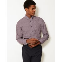 MandS Collection Cotton Blend Easy to Iron Slim Fit Shirt
