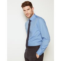 M&S Collection 3 Pack Cotton Blend Tailored Fit Shirts