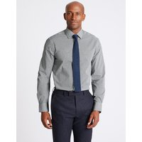 M&S Collection 3 Pack Cotton Blend Slim Fit Shirts