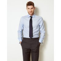 MandS Collection Luxury Shorter Length Slim Fit Cotton Shirt