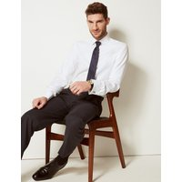 MandS Collection Luxury Slim Fit Pure Cotton Easy Iron Shirt