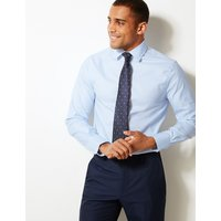 MandS Collection Luxury Cotton Slim Fit Shirt with Stretch