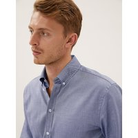 MandS Collection Luxury Tailored Fit Cotton Easy Iron Oxford Shirt