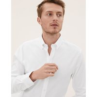 M&S Collection Luxury Cotton Tailored Fit Easy to Iron Oxford Shirt