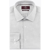 M&S Collection Luxury Tailored Fit Italian Design Weave Shirt