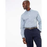 MandS Collection Luxury Tailored Fit Pure Cotton Easy Iron Shirt