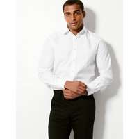 MandS Collection Luxury Pure Cotton Twill Slim Fit Shirt