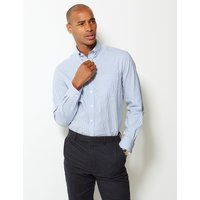 MandS Collection Pure Cotton Tailored Fit Oxford Shirt