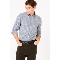 M&S Collection Tailored Fit Mini Gingham Easy Iron Shirt