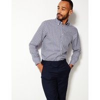 M&S Collection Pure Cotton Regular Fit Oxford Shirt