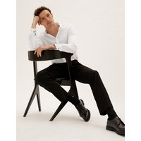MandS Collection Tailored Fit Pure Cotton Dinner Shirt