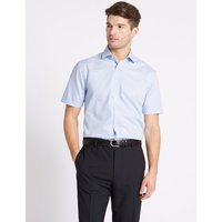 M&S Collection Short Sleeve Non-Iron Tailored Fit Shirt