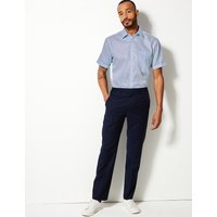 MandS Collection Regular Fit Pure Cotton Twill Non-Iron Shirt