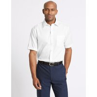 M&S Collection Regular Fit Pure Cotton Twill Non-Iron Shirt
