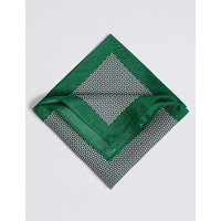 M&S Collection Pure Silk Geometric Print Pocket Square