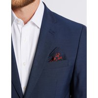 M&S Collection Pure Silk Poppy Print Pocket Square