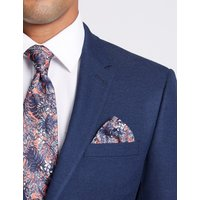 M&S Collection Luxury Pure Silk Tropical Leaf print Pocket Square