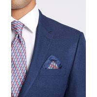 M&S Collection Luxury Pure Silk Monkey Print Pocket Square