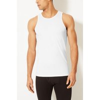 M&S Collection 2 Pack Pure Cotton Lightweight Sleeveless Vests