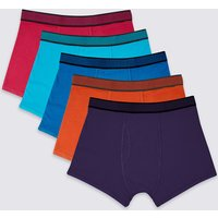 M&S Collection 5 Pack Cotton Rich Cool & Fresh Trunks