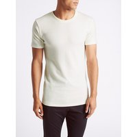 M&S Collection Wool Blend Short Sleeve Thermal Vest at Marks and Spencer Online