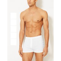 M&S Collection 5 Pack Pure Cotton Trunks with StayNEW