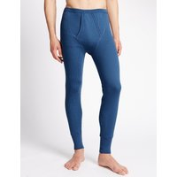 M&S Collection Cotton Rich Thermal Long Pants