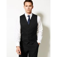 M&S Collection Black Regular Fit Waistcoat