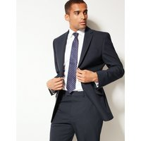 M&S Collection Navy Textured Regular Fit Jacket