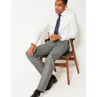 MandS Collection Textured Tailored Fit Trousers