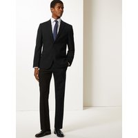 M&S Collection Big & Tall Black Textured Slim Fit Jacket