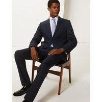 MandS Collection Big and Tall Navy Slim Fit Jacket