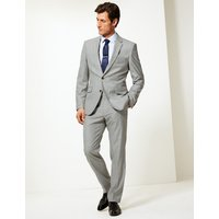 M&S Collection Checked Tailored Fit Trousers