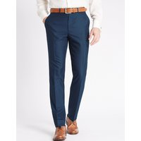 M&S Collection Indigo Regular Fit Trousers