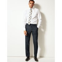 M&S Collection Big & Tall Navy Tailored Fit Trousers